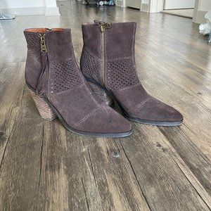 Lucky Brand Brown Perforated Booties